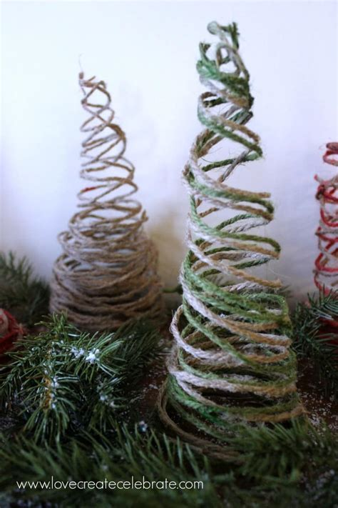 string christmas trees love create celebrate