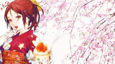 anime girl kimono wallpaper hd redjuice hd wallpaper 1237282 zerochan anime image board