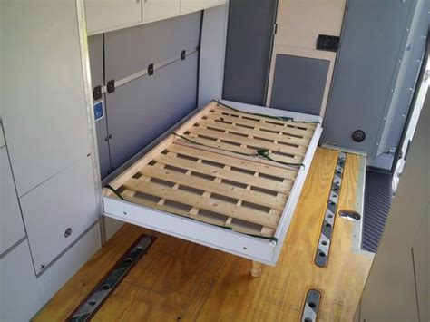 vans with beds details about sprinter cargo van cabinets with fold out bed beds cabinets and cargo van
