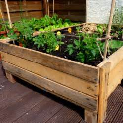 how to build a container garden box container gardening diy planter box from pallets