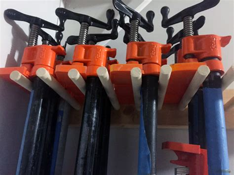 Garage With Workshop Plans Make A Simple Diy Rack For Your Pipe Clamps