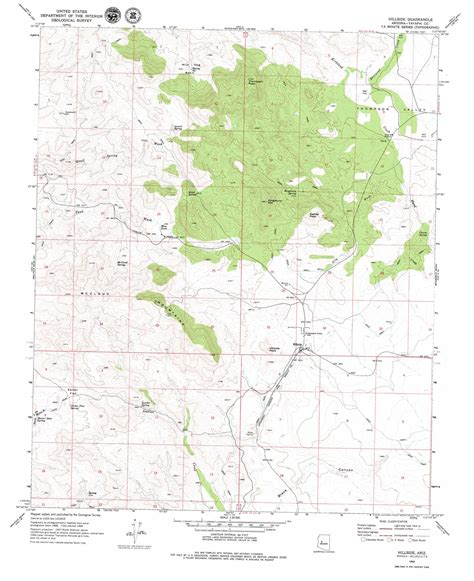 arizona topographical map hillside topographic map az usgs topo 34112d8