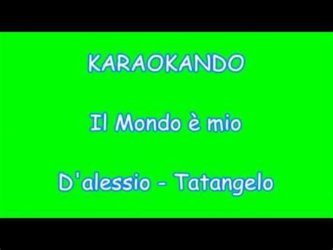 karaoke duetti il mondo 232 mio gigi d alessio