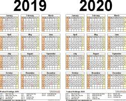 year calendar  printable microsoft excel templates