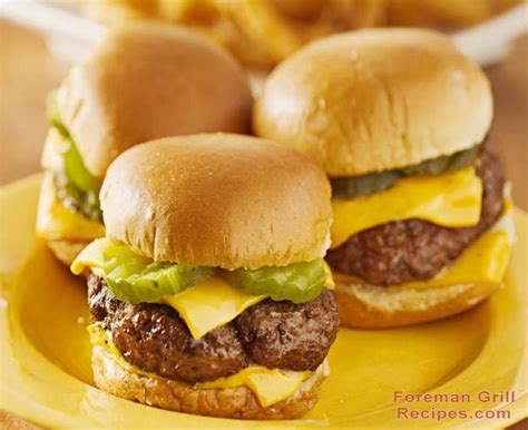 Easy Burger Recipes For The Grill by Easy Foreman Grill Sliders Foreman Grill Recipes