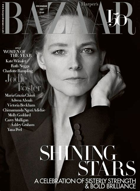In Harpers Bazaar 4 by Jodie Foster In S Bazaar Uk December 2017 By