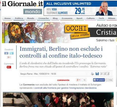 articolo di giornale sull alimentazione immigrati il giornale e quel confine quot italo tedesco
