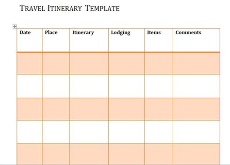 30 Itinerary Templates Travel Vacation Trip Flight Printable Itinerary Template