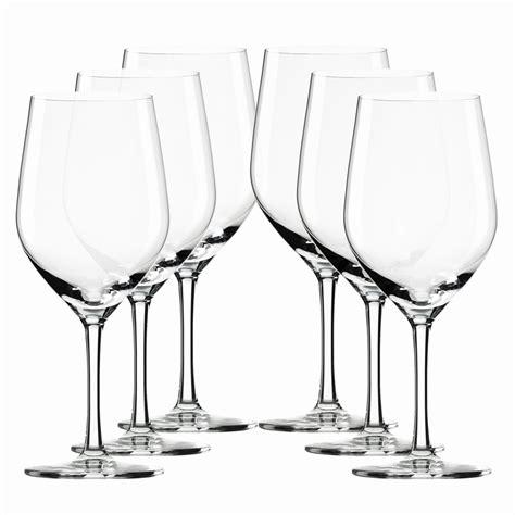 barware glasses st 246 lzle ultra white wine glasses box of 6 disc barware