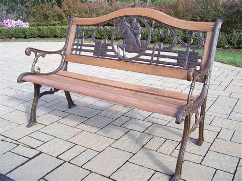 bench and bar oakland ca oakland living animals cast iron horse bench ol61262ab