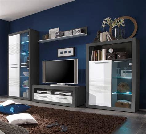 Weiß Grau Wohnzimmer 4660 wohnwand wei hochglanz gnstig simple hover to zoom with