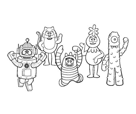 yo gabba gabba coloring pages free printable coloring pages for yo gabba gabba