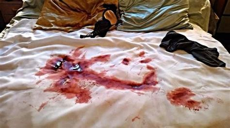 how to get blood out of bed sheets it happened to me i got period blood all over my hookup s bed