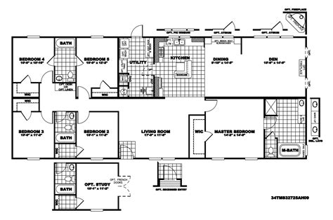 clayton homes floor plans manufactured home floor plan 2010 clayton mountaineer 34tms32725ah10