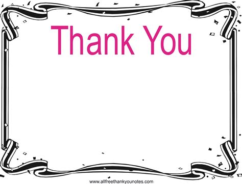note card template with borders thank you black and white clipart panda free clipart