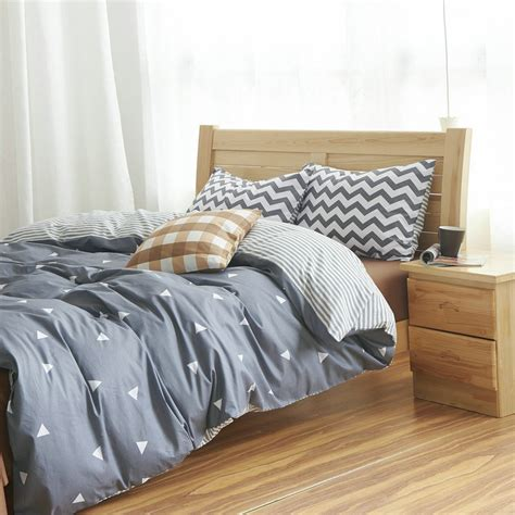 cotton duvet cover bed set geometric bedding sets
