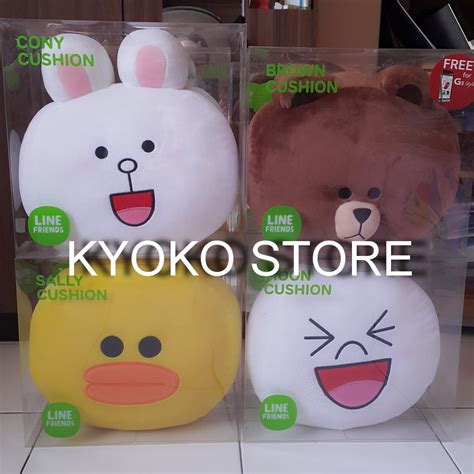 Boneka Line Cony By Crossline jual boneka bantal line cushion original brown cony