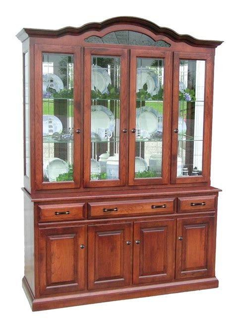 Dining Room China Cabinet Amish Dining Room Hutch Traditional China Cabinet Solid Wood Furniture Ebay