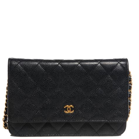 Chanel Caviar Chain chanel caviar quilted wallet on chain woc black 88277