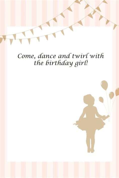 printable ballerina birthday invitations free printables for ballerina party buffet labels