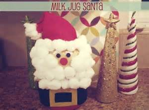 milk jug santa craft holiday diy crafts pinterest