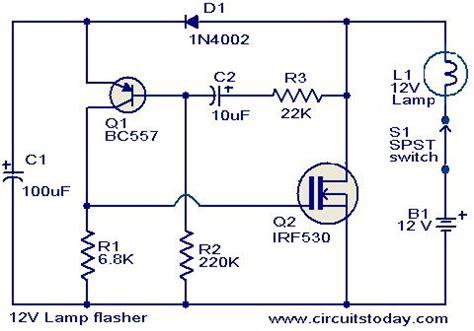 12v led flasher circuit diagram 12v get free image about