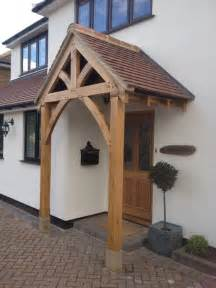House Awnings And Canopies Oak Front Door Canopy Porch Bespoke Made Porch Size