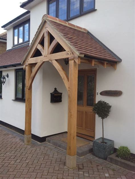 Wooden Front Door Canopy Oak Front Door Canopy Porch Bespoke Made Porch Size 2 Bespoke The White And Front Doors