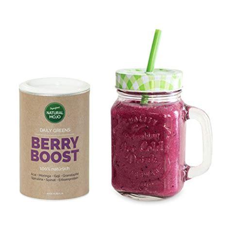 Paket Natur Shoo superfood pulver smoothie glas paket mojo berry boost superfood mix best seller