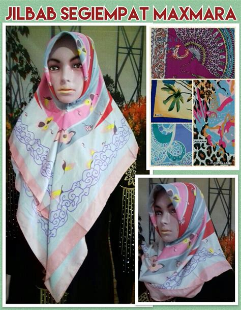 Jilbab Segiempat Maxmara Motif grosir jilbab dewasa terbaru murah surabaya 23ribuan