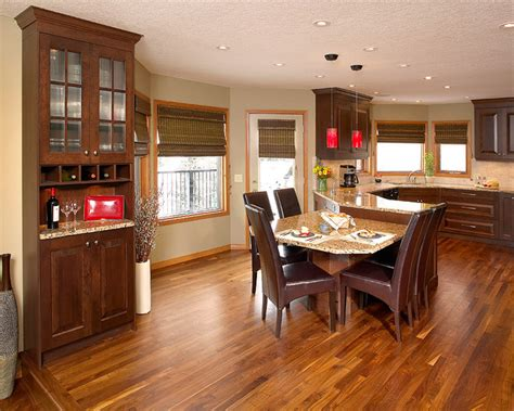 Home Decor Vinyl Plank Flooring by Walnut Hardwood Floor In Kitchen Contemporary Kitchen