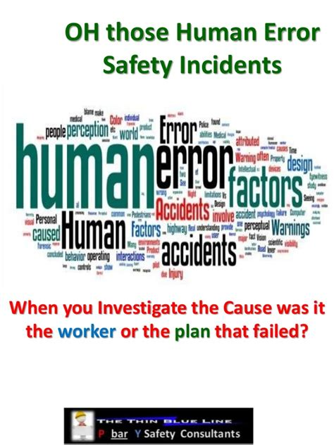 Oh Those by Oh Those Human Error Safety Incidents