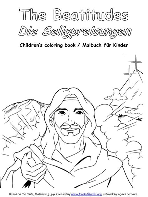 beatitudes coloring pages download die seligpreisungen malbuch beatitudes coloring book