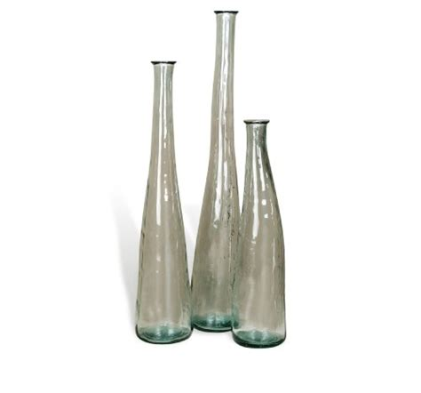 Large Clear Floor Vase by Large Glass Floor Vases Ares Clear Recycled Glass
