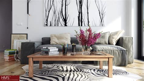 nordic decor hoang minh nordic style lounge with wintery print
