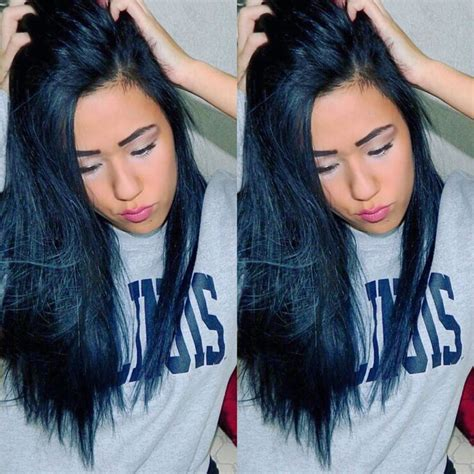 hair color black or midnight blue with subtle highlights or ombre brown blonde platinum grey midnight blue back ion demi hair dye hair blue black