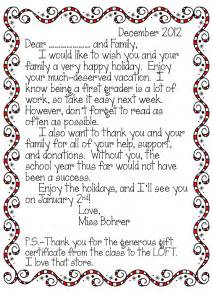 thank you letter from parents to kindergarten erica bohrer s grade twas the week before