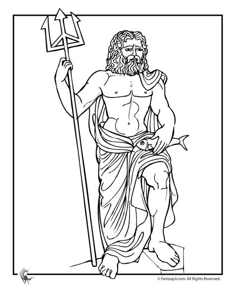 Gods Coloring Pages by Mythology Coloring Pages To And Print For