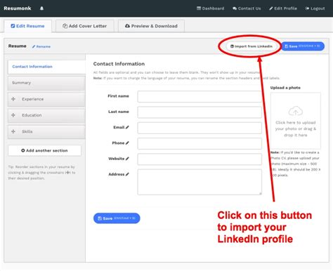 How To Add A Resume To Linkedin by Convert Your Linkedin Profile To A Beautiful Resume