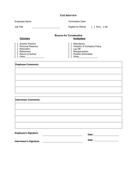Exit Interview Template Cyberuse Exit Template