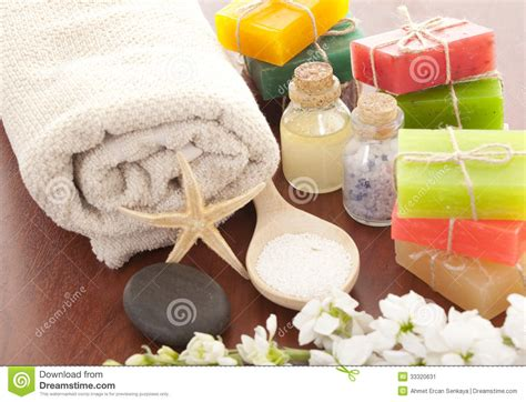 Handmade Spa Products - handmade soap closeup stock image image 33320631