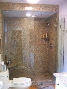 how to install large granite slabs on the wall in shower room