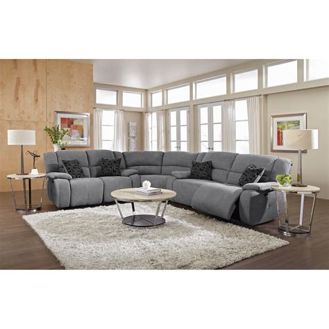 Living Room Reclining Sectionals This Gray Is Awesome Future Living Room Living Room Furniture