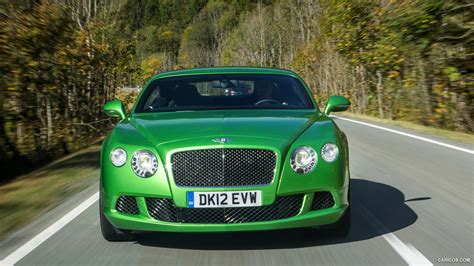 bentley green 2013 bentley continental gt speed green front hd