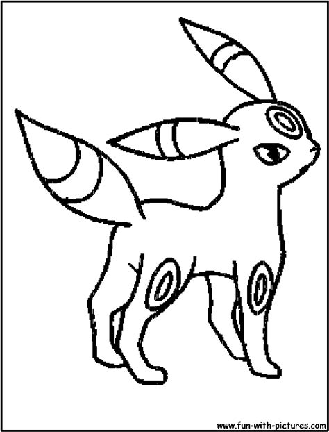 pokemon coloring pages poochyena espeon e umbreon colouring pages