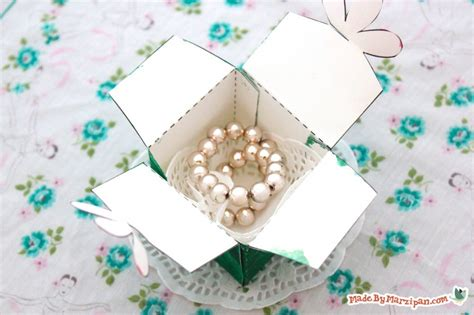 Free Folded Flower Box Template Made By Marzipan Flower Box Template