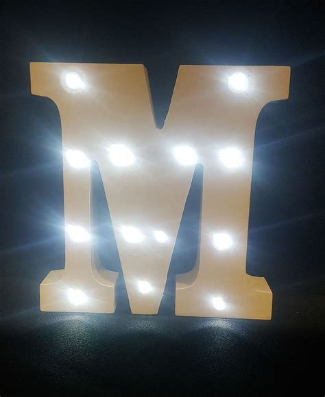 light up letters to buy buy wooden led light up letter white m from chair cover