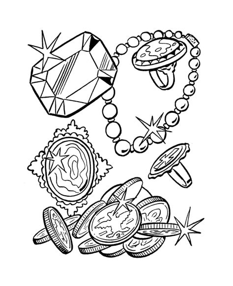 treasure chest color page az coloring pages