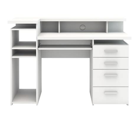 computer desk white four drawer computer desk in white 8012549