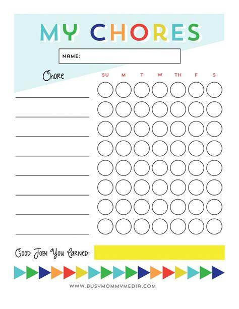Montessori Chore Chart Printable